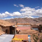 Our view of Cusco from room #5's balcony. Beautiful!