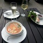 coconut soup with chicken lemmon grass and spicy