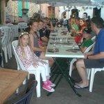 Family dinner in July 2013