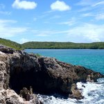 hiked a small cliff east at Navio, jumped in and snorkeled around it! Great time!