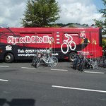 The Bike Bus at Coypool its new home