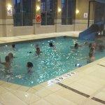 small pool and slide