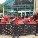 Muddy Waters Upper Patio (New Red Chairs)