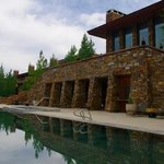 Pool deck overlooking the Tetons