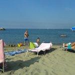 La spiaggia in prossimità