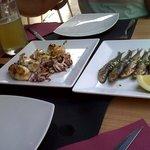 calamares y sardinas a la plancha