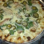 Jalapeno, Chicken and Fontina Pizza.