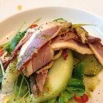 duck & melon salad. delicious !!