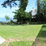 Garden with a view of the sea