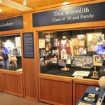 Don Meredith Exhibit on the bottom floor