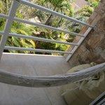balcón de la habitación