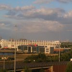 View of the Riverside Stadium from the room