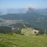 View of Seefeld from the top of the nearby Rosshutte