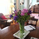 Fresh flowers in our lounges