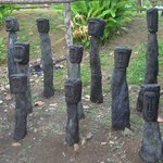 statuette en racines hommage aux chefs kalinago
