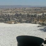 view from göreme panorama including an OzCappadocia helmet :)