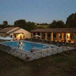 splendida vista della piscina al tramonto !