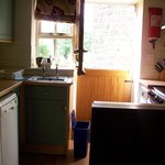 kitchen in Rowntree cottage