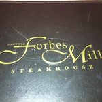 Forbes Mill Menu