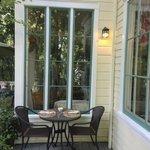 Outdoor breakfast patio