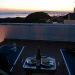 View from rooftop with supplied food & wine