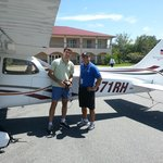 With my flight instructor