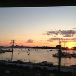 sunset view of the Harbor from the 2nd floor Inn deck