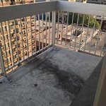 Balcony in terrible shape with AC water damage