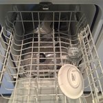 Broken glass left in the dishwasher on arrival