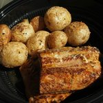 Smoked salmon and potatoes