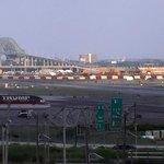 View from Newark International Airport