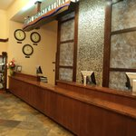front desk of the motel