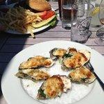 Baked oystersa la Sand Dollar