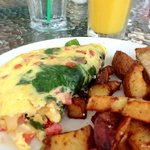 Yumme Veggie Scramble with Home fries!