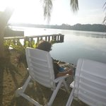 Lazing by the lagoon at Seachange