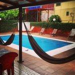 Hammocks by the pool
