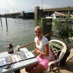 Enjoying dinner at the Angler!