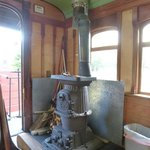 Interior of the vintage passenger car, Sumpter Valley Railway