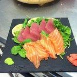 Sashimi di tonno e salmone