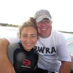 Ariel and Matthew all smiles after she completed the deep dive specialty course
