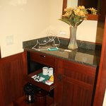 Coffee maker and amenities
