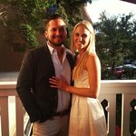 My husband and I at our rehearsal dinner:)