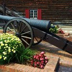 Authentic as well as replicas of cannons everywhere