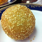 AA Bakery & Cafe - Sesame balls with rice cake and sweet bean paste