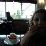 I loved that they had salad options for kids. Our daughter vows that prawns are now her favourit