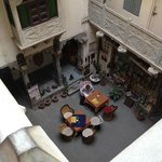 The courtyard from an upper level...Great atmosphere!