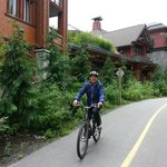 Cycling around the Lodge