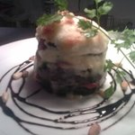 goats cheese and Aubergine