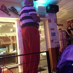 Love the red trousers the karaoke king wears