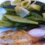 Lotte/légumes croquants